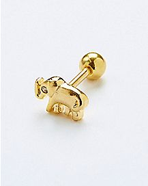 18 Gauge Elephant Cartilage Stud