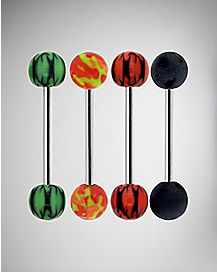 Pattern Bead Barbell 4 Pack - 14 Gauge
