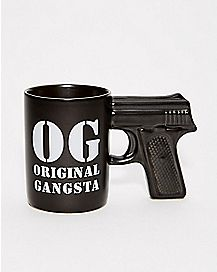 Original Gangsta Gun Mug 18 oz