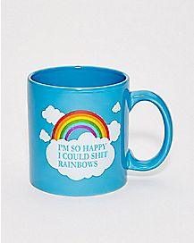 Shit Rainbows Mug 22 oz