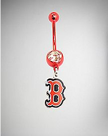 MLB Boston Red Sox Dangle Belly Ring - 14 Gauge