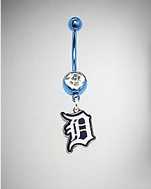 MLB Detroit Tigers Dangle Belly Ring - 14 Gauge