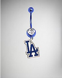 MLB Los Angeles Dodgers Dangle Belly Ring - 14 Gauge