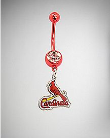St. Louis Cardinals Belly Ring - 14 Gauge