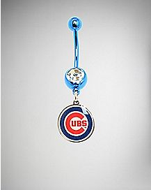 Chicago Cubs MLB Belly Ring - 14 Gauge