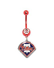 MLB Philadelphia Phillies Belly Ring - 14 Gauge