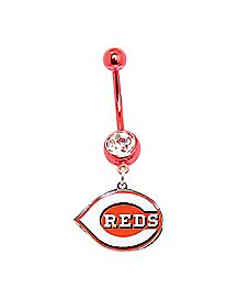 14G MLB Cincinnati Reds Belly Ring