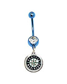MLB Seattle Mariners Belly Ring - 14 Gauge