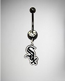 MLB Chicago White Sox Dangle Belly Ring - 14 Gauge