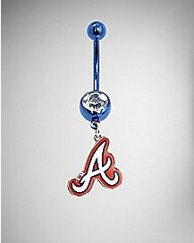 MLB Atlanta Braves Dangle Belly Ring - 14 Gauge