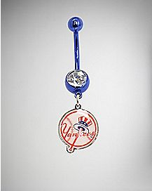 MLB New York Yankees Dangle Belly Ring - 14 Gauge