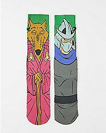 Splinter Shredder TMNT Crew Socks