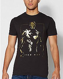 Gold Foil Iron Man Marvel T Shirt - Marvel Comics