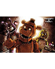 Group Attack Five Nights At Freddy's Poster