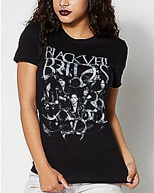 Gray Scale Group Black Veil Brides T Shirt