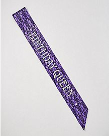 Lace Overlay Birthday Queen Sash