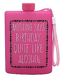 Birthday Alcohol Wristlet Flask 13 oz
