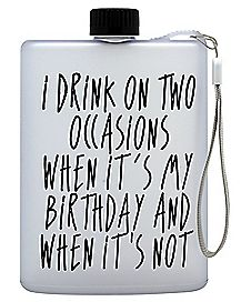 Drink On Occasions Wristlet Flask 13 oz