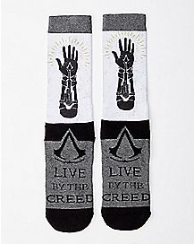 Assassins Creed Live By The Creed Crew Socks