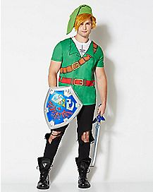Link The Legend of Zelda Costume T shirt