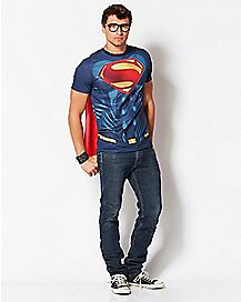 Sublimated Caped Superman T Shirt - DC Comics