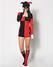 Harley Quinn Romper Pajamas
