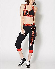 Deadpool Sports Bra Jogger Set - Marvel Comics