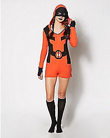 Deadpool Hooded Romper Pajamas - Marvel Comics