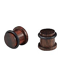 Sono Wood Plug 2 Pack- Dark Brown