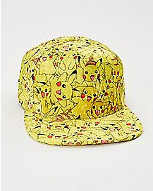 Velvet Pikachu Pokemon Snapback Hat