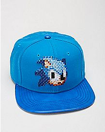 Pixilated Sonic Snapback Hat