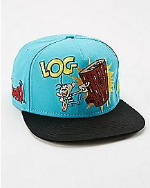 Ren & Stimpy Log Snapback Hat
