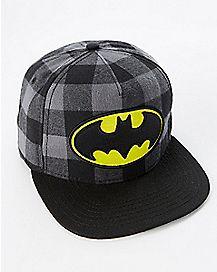 Batman Plaid Snapback Hat - DC Comics