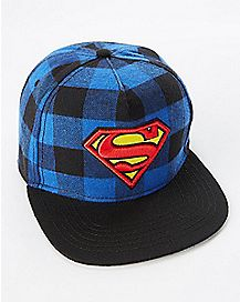 Plaid Superman Snapback Hat - DC Comics
