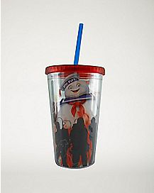 Ghostbusters Puff Cup With Straw and Ice Cubes - 16 oz.