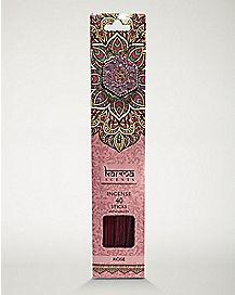 Rose Incense Sticks with Holder - 40 Pack