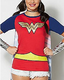 Caped Wonder Woman T Shirt