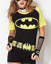 Raglan Caped Batman T Shirt