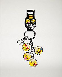 Smiley Faces Dangle Keychain