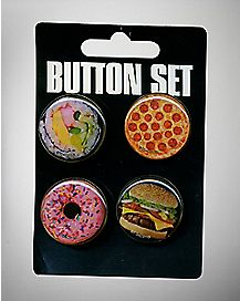 Food Buttons - 4 Pack