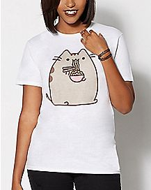Ramen Noodles T Shirt - Pusheen