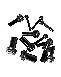 Black Plugs Multi Gauge Set - 6 Pairs
