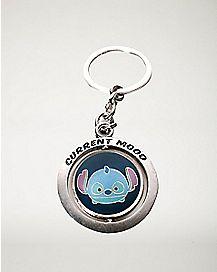 Stitch Current Mood Spinning Keychain
