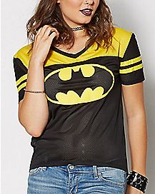 Batman Mesh Jersey T Shirt - DC Comics