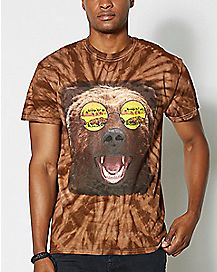 Bear Burger Glasses T Shirt