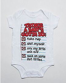 Things Baby Gotta Do Baby Bodysuit