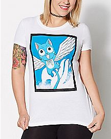 Happy Wings T Shirt - Fairy Tail
