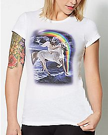 Sloth On Unicorn T Shirt