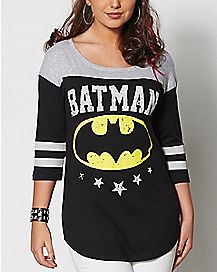 Batman Raglan T Shirt - DC Comics