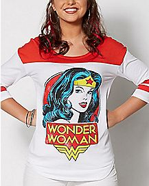 Wonder Woman Raglan T shirt - DC Comics